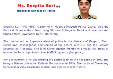 Cyber and Workspace Safety for Women- Ms. #Deepika_Suri #IPS-SZB SAMANWI- #Women's_Day