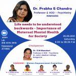 "IPS-SZB-SAMANVI- ""Life needs to be understood backwards – Importance of Maternal Mental Health for Society"""